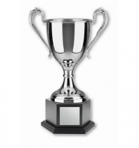 Nickel Plated Cup with Hex Base,.