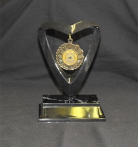 Medal Holder – Black holder (also available in Gold) with your choice of medal and black marble plastic base.