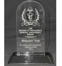 "Snap-In Arch Acrylic Award 6 3/4"""