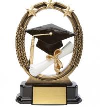 "Tri-Star Graduation Resin Award  7 """