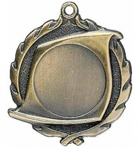 "1 7/8"" CAST MEDAL WITH 1"" INSERT OF YOUR CHOICE WITH ENGRAVED 1 1/2"" DISC ON BACK."