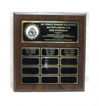 "12"", 18"" & 24"" Plate Cherrywood Annual Plaques"