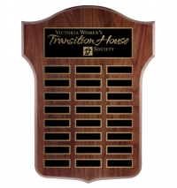 "18"" x 24"" Solid Walnut or Oak Annual Plaque."