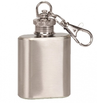 1oz Stainless Steel Flask Key Chain