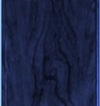 Blue Woodgrain Laminate Plaque with engraved brass plate.
