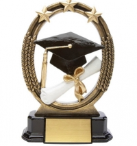 Tri-Star Graduation Resin Award  7 ""