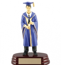 "Graduation Resin, available in Male and Female 8 3/4"" tall."